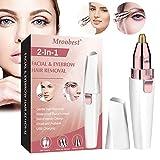 Augenbrauen Trimmer, Augenbrauen Rasier, Augenbrauentrimmer Elektrisch, 2 in 1 wiederaufladbarer USB-Augenbrauen-Haarentferner, Augenbrauen-Epilierer für Augenbrauen、Lippen、Körper、Gesichtshaar