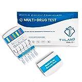 5 x Telano Multi Drogenschnelltest für 10 Drogenarten   Cannabis THC - Kokain - Ketamine - Amphetamin - Methamphetamin - MDMA - Opiate - Benzodiazepine - Methadon - Barbiturate   Drogentest für Urin