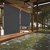 Hengda Senkrechtmarkise Vertikalmarkise Sonnenschutz Windschutz Seitenrollo Sichtschutz Anthrazit 180 x 140 cm