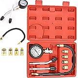 PowerTools Kompressionstester für Benzin Motor, KFZ Kompressionsprüfer 0-20 bar & 0-300 psi Kompressionsmesser, Motor Kompression prüfen meßen Kfz M10 M12 M14 M18