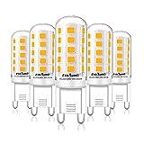Eco.Luma G9 LED Lampen Warmweiß 3000K, 5W Ersatz Für Halogenlampe G9 40W 33W, AC 230V G9 Mini Glühlampe, Kein Flackern 420LM, Nicht Dimmbar 5er Pack