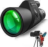 Monocular Teleskop Aikove 12x50 Starscope Monocular Fernglas HD Zoom mit Smartphone Halter und Stativ,wasserdichtes and nebelbeständiges Monocular,ideal für Vogelbeobachtungen,Camping,Jagen,Ballspiele