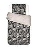 Covers & Co Bettwäsche Wild Thing Leoparden Muster Bio-Baumwolle Perkal (GOTS) Sand, 135x200 + 1x 80x80 cm