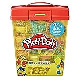 Play-Doh E9099 Großes Knetset mit Aufbewahrungsbox für Kinder ab 3 Jahren mit 8 Farben und über 20 Knetwerkzeugen