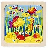 Goki Einlegepuzzle Meer, 9 Teile