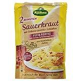Kühne Sauerkraut Schwarzwälder Schinken im Beutel, Fix und Fertig mit feinen Schinkenwürfeln, 400 g