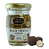 Carpaccio Tartufo Gourmet Black Summer Truffle 70% Tuber Aestivum, Delikatessen Sommertrüffel Schwarze Trüffel Scheiben, fachmännisch in nativem Olivenöl extra konserviert (1 x 60g)