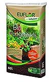 Euflor Bio Hochbeeterde 60 L Sack, als Pflanzschicht im Hochbeet, mit Naturdünger und Vitalhumus
