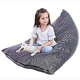 Stofftier Aufbewahrung Sitzsack, Eurobuy 200L Sitzsack mit Stofftier-Design, Bequeme Sitzfläche Extra Groß für Kinder, Jugendliche und Erwachsene, für Plüschtiere
