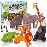 Learning Minds Set von 8 Jumbo Dschungel Tierfiguren - 18 Monate +