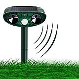 Sylanda Katzenschreck Ultraschall Solar, Tierabwehr Katzen Vertreiben Abwehr, wasserdichte Vogelschreck Katzenschreck Hundeschreck Marderschreck für Garten