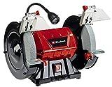 Einhell Doppelschleifer TC-BG 200 L (max. 400 W, Ø200xø32x25 mm Schleifscheibe, biegbares Licht, große + verstellbare Arbeitsauflagen,, inkl. Grob-/Feinschleifscheibe K36/K60)