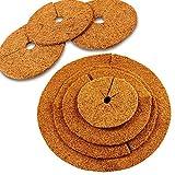 MW.Shop.24 Kokos-Mulchscheibe - 28 cm/Kübelabdeckung/Winterschutz für Topfpflanzen/Pflanzenschutzmatte/Unkrautschutzmatte