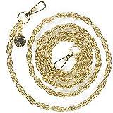 Jalouza Handykette Ersatzkette in Farbe Gold, Smartphone Spiral- Kette zum Wechseln, kombinierbares Handy Necklace zum Umhängen, Gliederkette - Länge 120cm, Made in Berlin