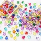 DAHI acryl perlen zum auffädeln bastelnperlen 10mm ca. 650 stück- Perlen 250 Gramm EIN Set Acryl Perlen Bastelperlen Schmuckherstellung DIY Halsketten Armband (perlen-C)