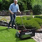 HECHT Spindelmäher mit 46 cm Schnittbreite und 50 l Grasfangkorb im Set – Für einen top gepflegten englischen Rasen im Garten. Leise, umweltbewusst und ganz ohne Benzin, Strom oder Akku