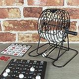 Global Gizmos 50690 Traditionelles Bingo-Set   inkl. Rundkäfig, 75 Bälle, 18 Karten, 150 farbige Markierungen   Familienspiel   Lotto