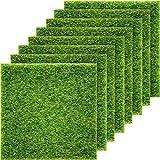 Pangda Kunstrasen, naturgetreuer feenhafter Kunstrasen, für Miniatur-Ornament, Garten, Puppenhaus, Gras zum Basteln, 15,2 x 15,2 cm (8er Packung)