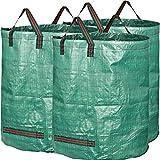 GardenMate 3x 300L Gartensack PROFESSIONAL aus robustem Polypropylen-Gewebe (PP)