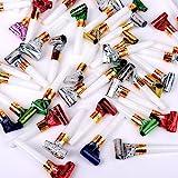 Schramm® 48 Stück Luftrüssel Kurz Luft Rüssel mit Tröte Mitgebsel Lufttröte ca. 24 cm