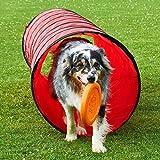 Spiel- und Spaß-Tunnel, 3 m lang, ø 60 cm, rot, Agility-Training