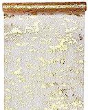 Santex Tischläufer Fantasie, glänzend, Polyester Gold