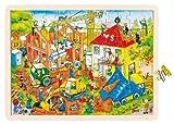 goki 57670 Einlegepuzzle Baustelle