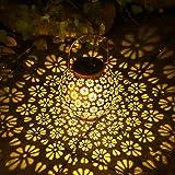 Solarlaterne für Außen, Osaloe Wasserdichte Gartenlampe, LED-Dekoration Solarbeleuchtung, drahtlose Solarleuchten für Party, Hochzeit, Patio, Park, Rasen, Weihnachten