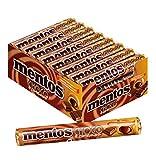 Mentos Choco Schokolade und Karamell, 24 Rollen Kaubonbons im Multipack, Kau-Dragees mit Toffee Geschmack